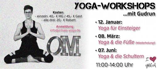 Yoga-Workshops mit Gudrun
