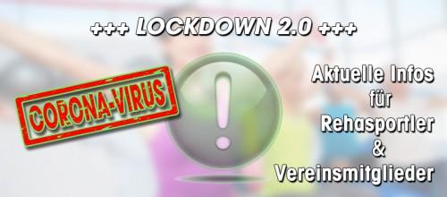 +++ LOCKDOWN 2.0: Infos für Rehasportler & Vereinsmitglieder +++